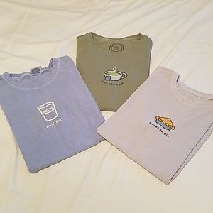 Lot of 3 Life is Good tee shirts women's